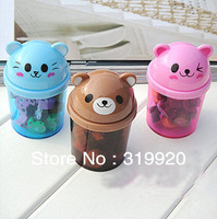 2013 New products interesting bear animal  erasers set / Pink, Brown,Blue color  Free shipping 10set/240pcs/lot