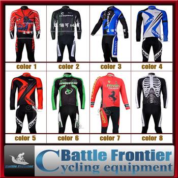 mens Fleece polyster+Lycra bicycle warm jersey+pants set/cycling sports apparel wear clothes S,M,L,XL.XXL,XXXL windproof winter