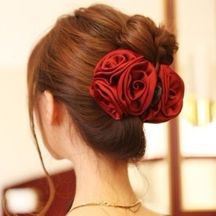 Accessories rose big flower gripper hairpin clip hair accessory hair accessory free shipping(China (Mainland))