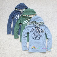 2013 spring and autumn child high quality with a hood long-sleeve T-shirt 140 - 160