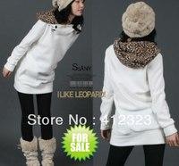 free shipping women lady girls fashion warm with fleece casual pullover hoody sweatshirt coat jacket clothes