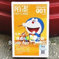 First shop Cartoon postcard set Doraemon  Cartoon characters greetings card Free shipping 30sheet/box/lot