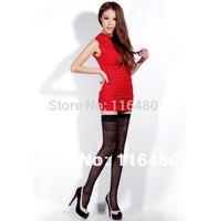 2014 New Brand BONAS Fashion Alluring Sexy Ultrathin Transparent Elastic Thigh High Silk Stockings over the knee socks 4301