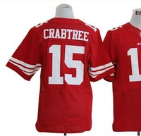 Free shipping American football ELITE  San Francisco #15 Crabtree Michael 15 red team color home cheap Jersey jerseys gift SJR