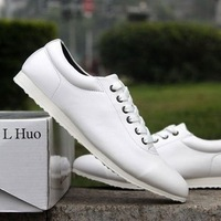 Casual shoes casual shoes fashion spring and summer breathable white leather popular men's cutout
