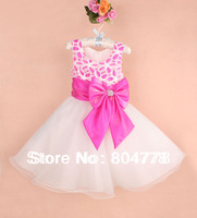 baby girl's party dresses sleeveless bowknot kids evening dress children wedding dress 6pcs/lot