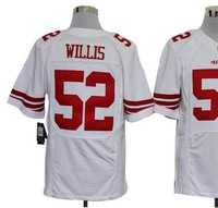 Free shipping American football ELITE  San Francisco #52 Willis Patrick 52 white away road cheap Jersey jerseys gift SJR