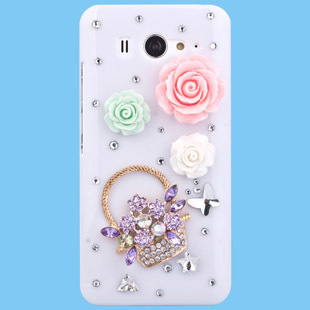 Luxury Handmade 3D Element Design Rhinestone Diamond Cell Phone Case Bling Cover For LG L9 VS910 E400 F160L FREE SHIPPING(China (Mainland))