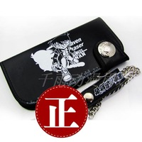 hot Conan wallet long design wallet black paragraph 2 excellent