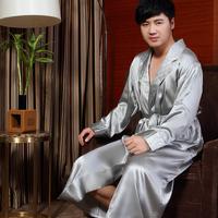 Mulberry silk robe pure silk male 5 separate robe kimono 8293