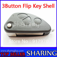 (20pcs/Lot ) Flip Folding Remote Key 3 button Shell Case Alfa Romeo 147 156 GT JTD TS 2BT T021