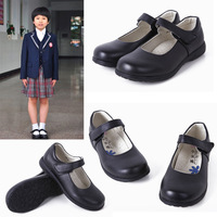 Children shoes female leather black female children princess shoes genuine leather shoes 2012 performance shoes