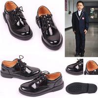 Children shoes male child leather shoes child plus size children black lacing shoes primary school students shoes formal dress