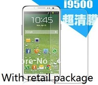Anti Scratch Ultra Clear Screen Guard Screen Protector With Retail Package For Samsung Galaxy S4 I9500 20pcs/lot Free Shipping