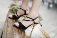free shipping hot sale 2014 new elegant high-heeled shoes heel women shoes chain sandals women's shoes 1 pair wholesale TB-ME39