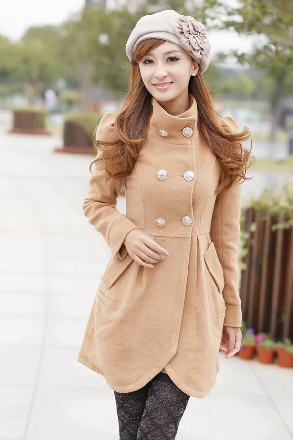 L missing) star with the Korean version of the new body sculpting lady coat windbreaker casual jacket 5160(China (Mainland))