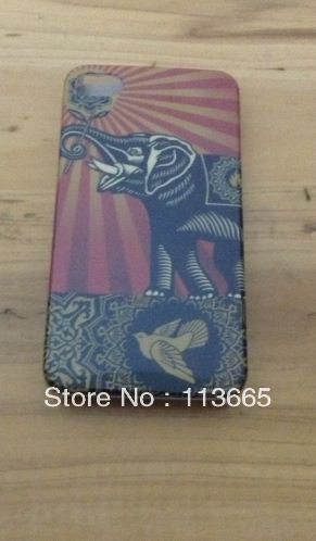 Free shipping MOQ 1pc Elephant bird case hard plastic case for iphone 4s(China (Mainland))