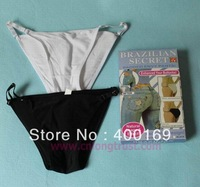 100pcs/lot Brazilian Sexy Underwear Secret (white or Black color) M L XL