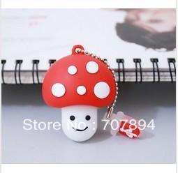 free shipping!!! Wholesale Cartoon Red Mushroom head 4GB 8GB 16GB 32GB  USB 2.0 Flash Memory Stick Drive  CP172