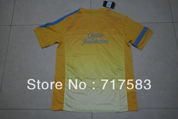 2013-2014 best Thai quality Barcelon Yellow soccer training shirt (original brand &amp; tags)(China (Mainland))