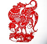 Free shipping Paper cutting zodiac 30*23cm gifts  papercut home decoration