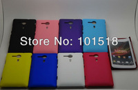 20pcs/lot Free shipping Rubber Hard Cover Case For sony xperia sp M35H
