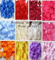 1000pcs/lot  Colors Rose Petals for Wedding decoration  party