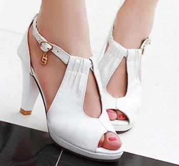 high heel sandals Модный Женщины dress sexy shoes Кожа P6033 EUR Размер 32-43