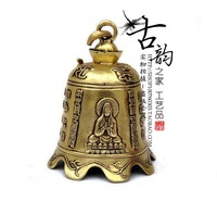 Pure brass tongzhong clock copper bell apotropaic