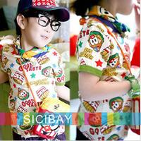 Cheanp Free Shipping Girls Stylish Tshirts Hooded Tops Kids Loved Tops, 5pcs/lot  K0517