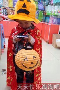 Pumpkin hat child mantissas collarless pumpkin lantern halloween cloak pumpkin set