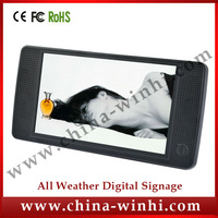 7 inch plastic shell in store video programming display digital signage player Factory Direct Speedy Delivery Guaranteed 100%