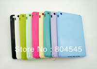 Free Shipping 100pcs/lot Back Case Shell Skin Protector For Apple iPad Mini Soft TPU Gel Rubber Case Cover P351,9 Candy Colors