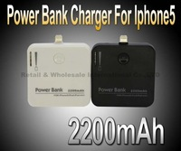 2200MAH Backup External Battery Power Bank for Apple iPhone 5 5G ipod ipad mini