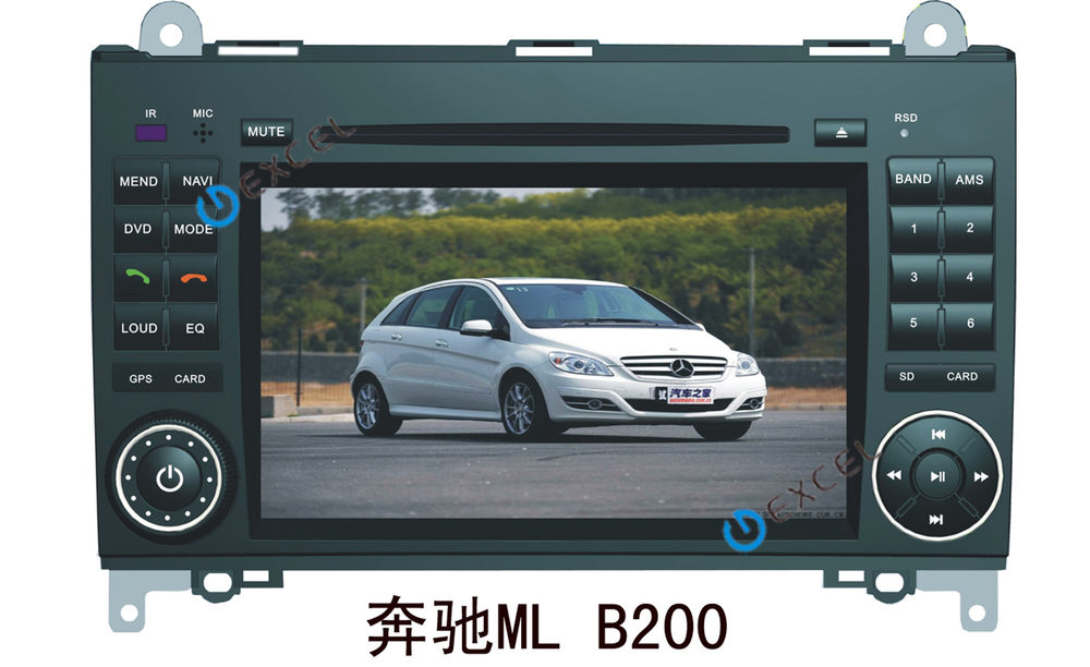 BENZ B200 car dvd player touch screen, built-in GPS, buletooth,canbus,ipod, RDS+free shipping+wholesale(China (Mainland))