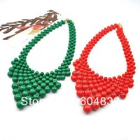 Fashion Bubble Necklace Womens Beads Statement Necklaces Long Chunky Jewelry Bib Necklaces