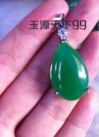 FREEN SHIPPING! Beautiful drop shape noble malay jade pendant girlfriend gifts