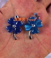 FREEN SHIPPING! Pendant pendant female rhinestone inlaying pendant necklace royal blue flower wind - eye necklace