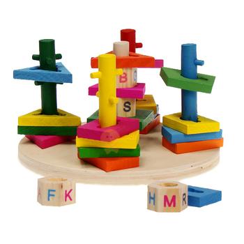 Column shape set building blocks educational toys hanor multicolour toy