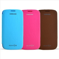 1 PCS Free Shipping High Quality Flip Pu Leather Case For Samsung SIII Galaxy S3 i9300 Case Cover