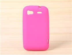Soft Silicone Skin Case for HTC G14 (Pink)(China (Mainland))