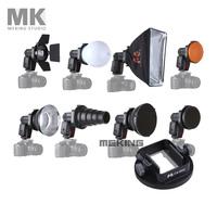 Meking Flash Accessories Kit K9 (Barndoor/snoot/softbox/honeycomb/beauty disc/diffuser) for speedlite/speedlight/flash