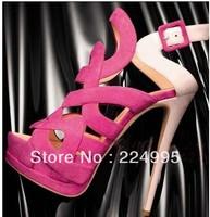 2013 New Arrival Classic Buckle Vogue Ladies Platform Heels Dress Pumps Shoes