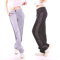 plue size Spring 100% cotton high quality loose Women sports pants trousers casual pants  ladies
