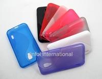 2PCS High q Gel Soft Silicone S Line Semi Transparent Anti-skid TPU Case Skin Cover for LG Optimus L7 II Dual P715 715 Free Ship
