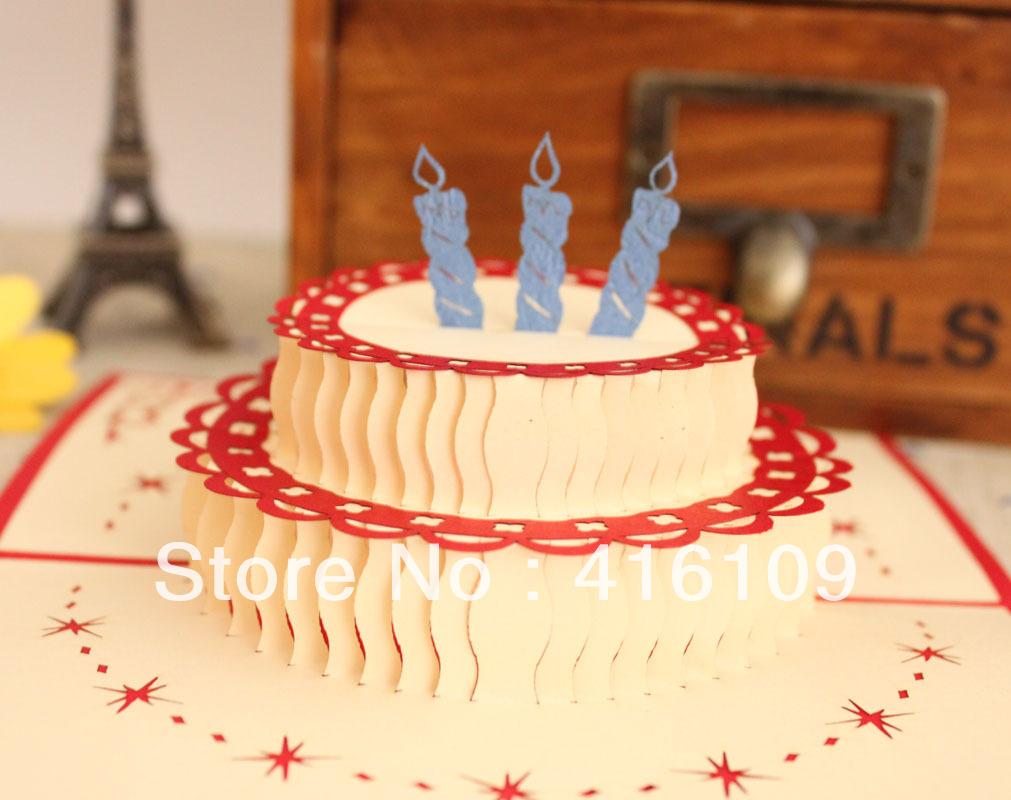 Birthday cake handmade paper art birthday card greeting ...