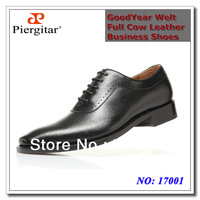 Free shipping Goodyear High end cow leather business oxfords dress shoes men black size 39-45