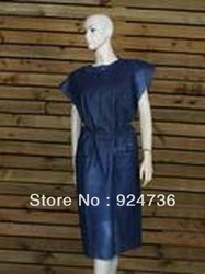 Disposable Dark Blue Gown without Sleeve(China (Mainland))