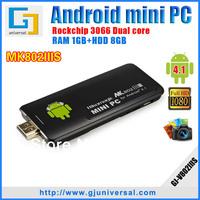 Original Rikomagic MK802IIIS Mini PC Bluetooth Remote Control Dual Core RK3066 A9 1GB RAM 8G ROM Android TV Freeshipping