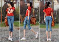 1PCS Free Shipping Harem Jeans Pants Denim for Summer New Arrival British Style Harem Trousers YS-Linggan-1866-1